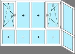 Пример Г-образного окна