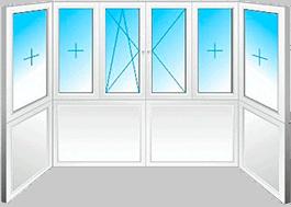 Пример П-образного окна